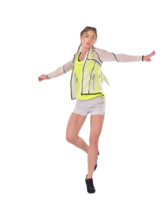Translucent Packable Jacket for women | Gym Aesthetics